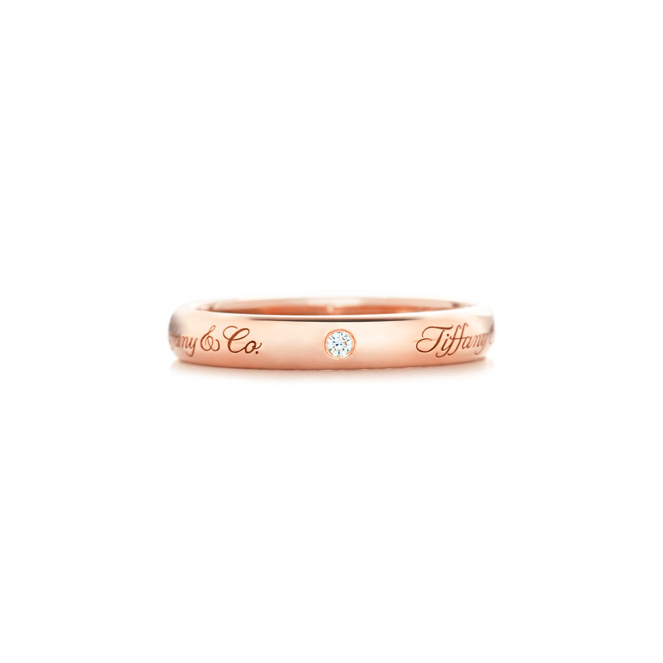 Tiffany Notes I Love You band ring in platinum, 3 mm wide - Size 4 1/2 Tiffany & Co.