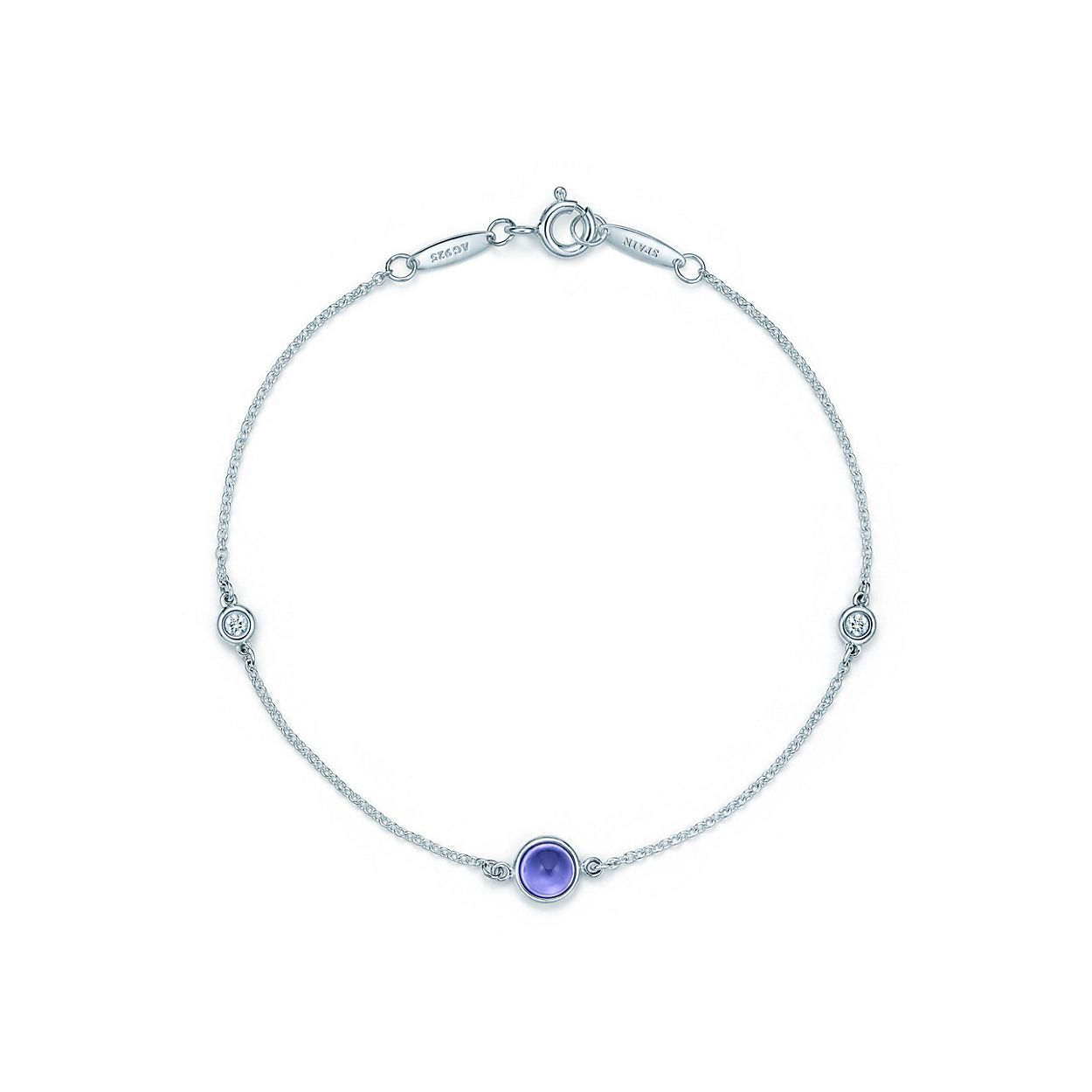 silver rocks free glitzy round product watches today shipping sterling tanzanite tennis overstock jewelry bracelet