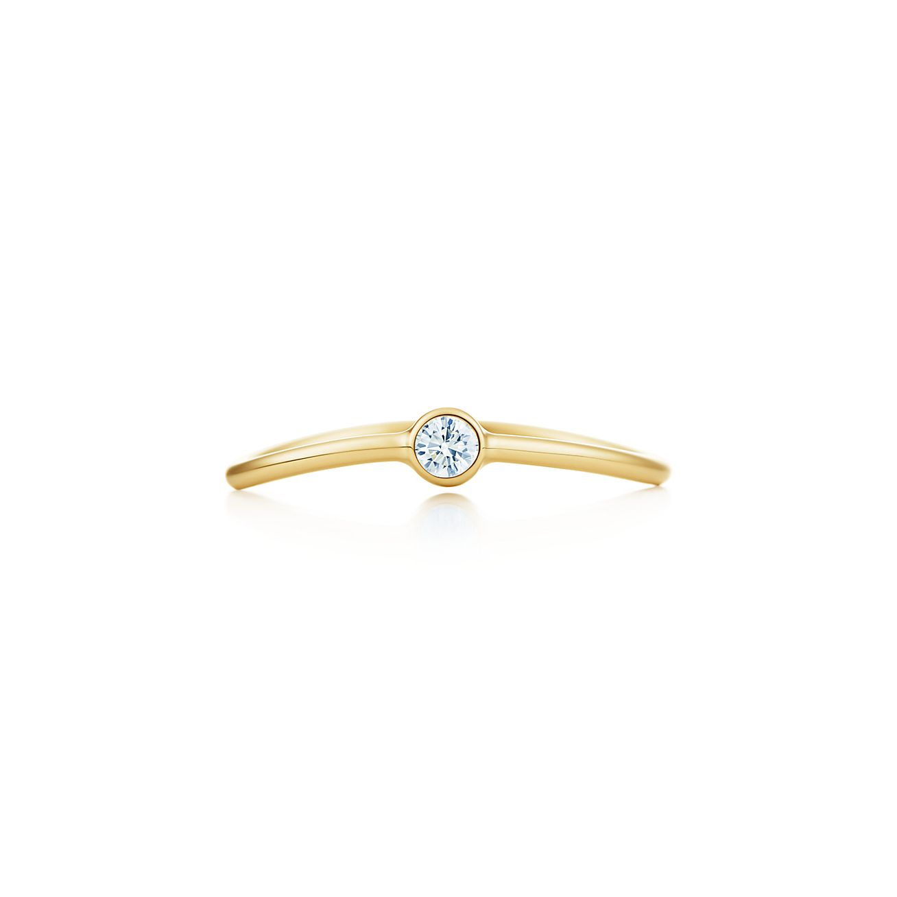 Elsa Peretti Wave single-row diamond ring in 18k gold - Size 5 1/2 Tiffany & Co.
