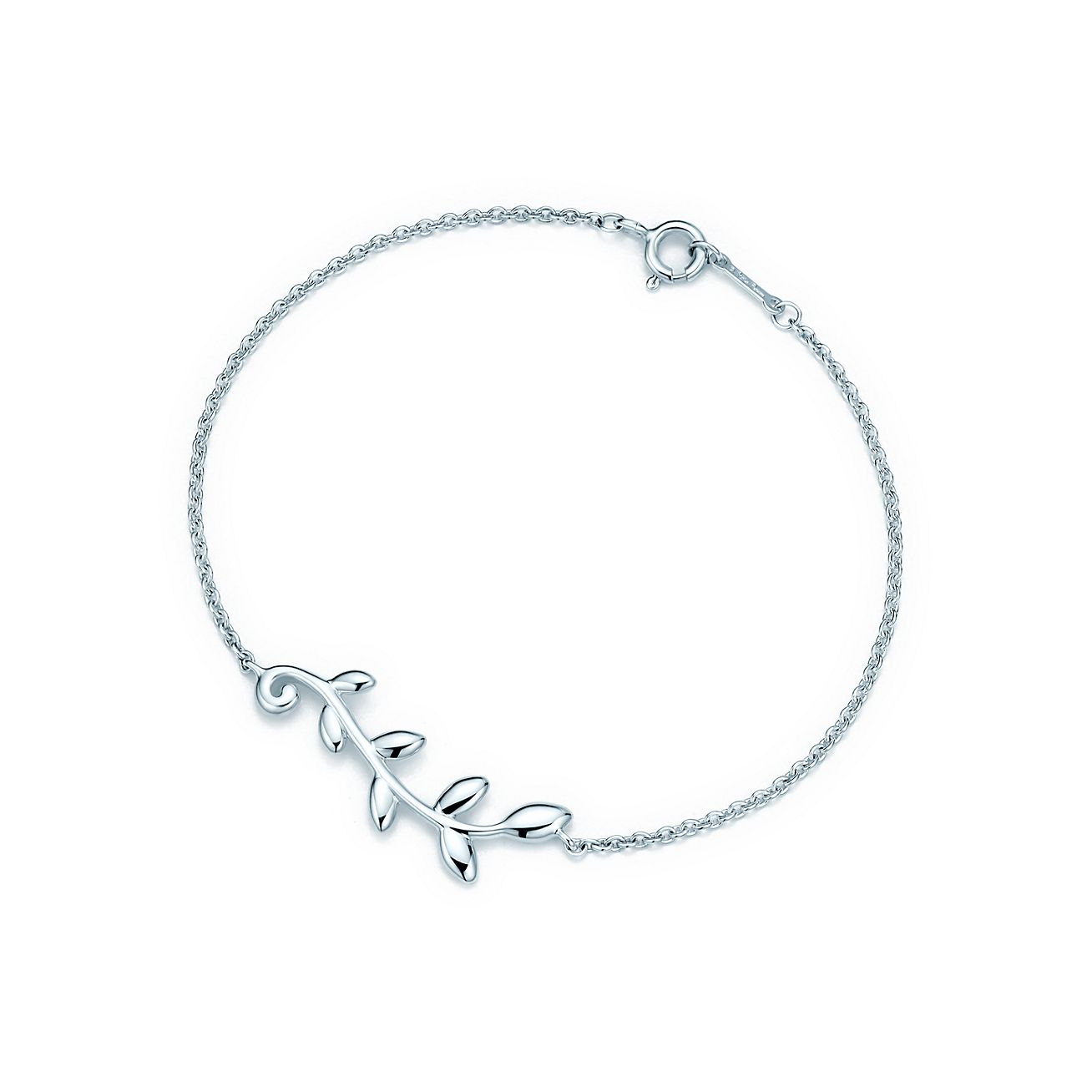 Paloma Picasso Olive Leaf heart bracelet in sterling silver Tiffany & Co.