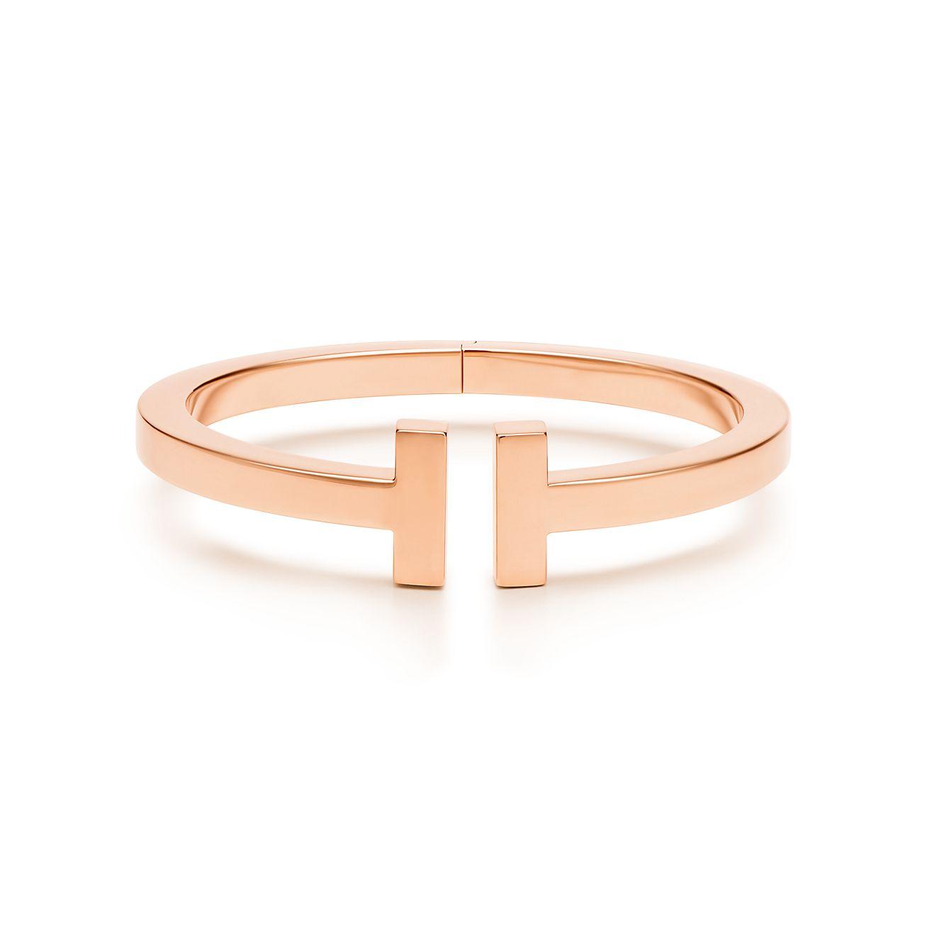 Tiffany & Co. 18kt rose gold Tiffany T square diamond cuff - Metallic bcKQJJh