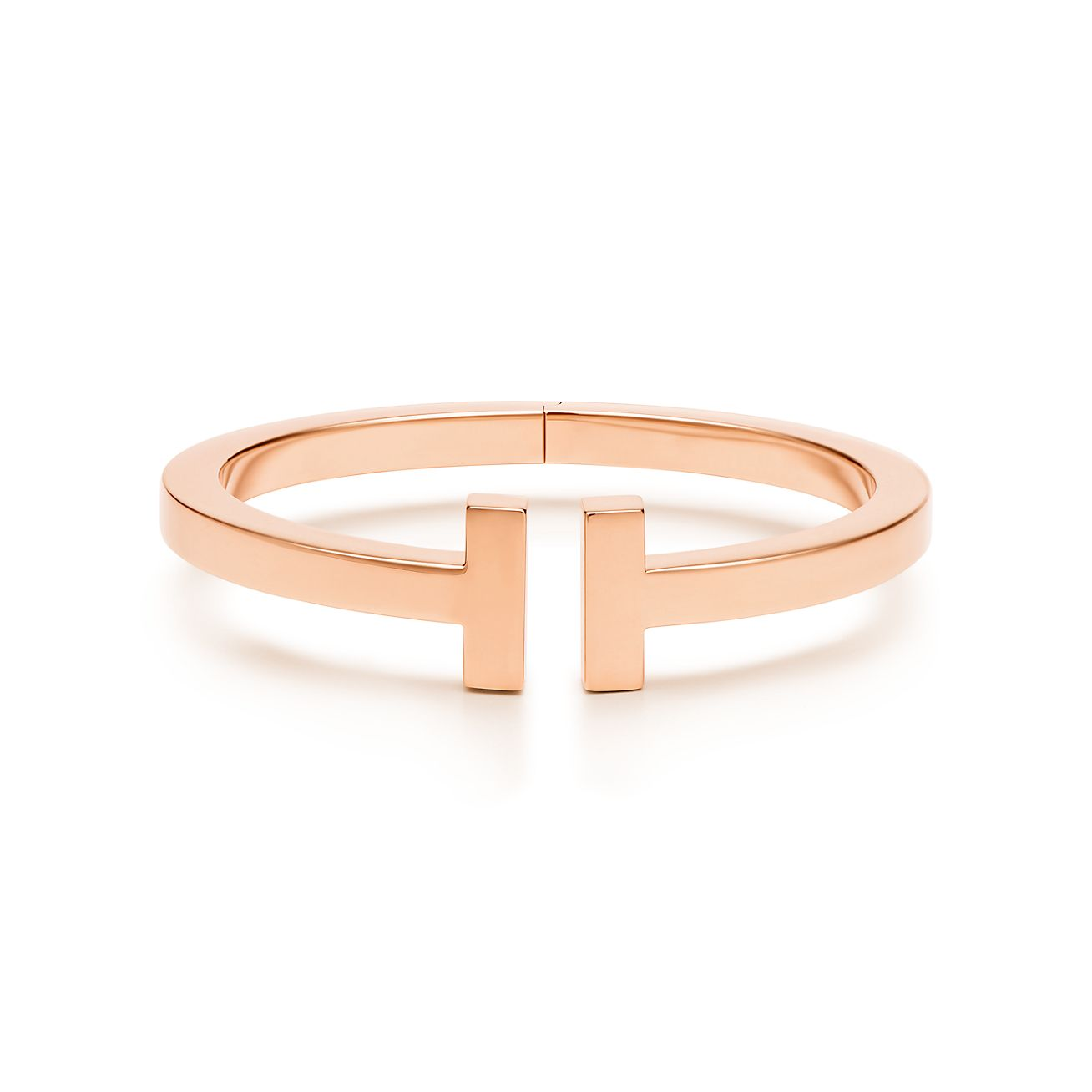 Tiffany & Co. 18kt rose gold Tiffany T square diamond cuff - Metallic