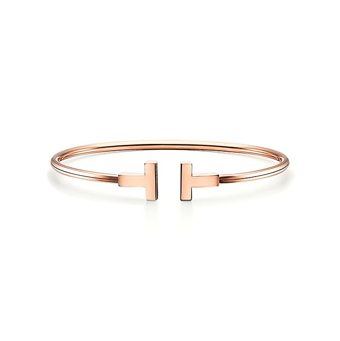 25a48d57b Tiffany T wire bracelet in 18k rose gold, medium. | Tiffany & Co.