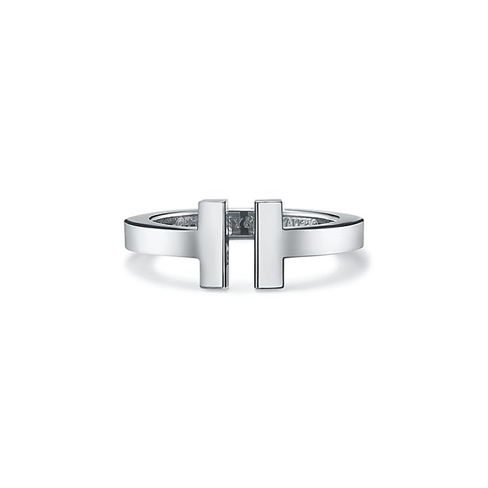 09154fef7 ティファニー T スクエア リング 18Kホワイトゴールド | Tiffany & Co.