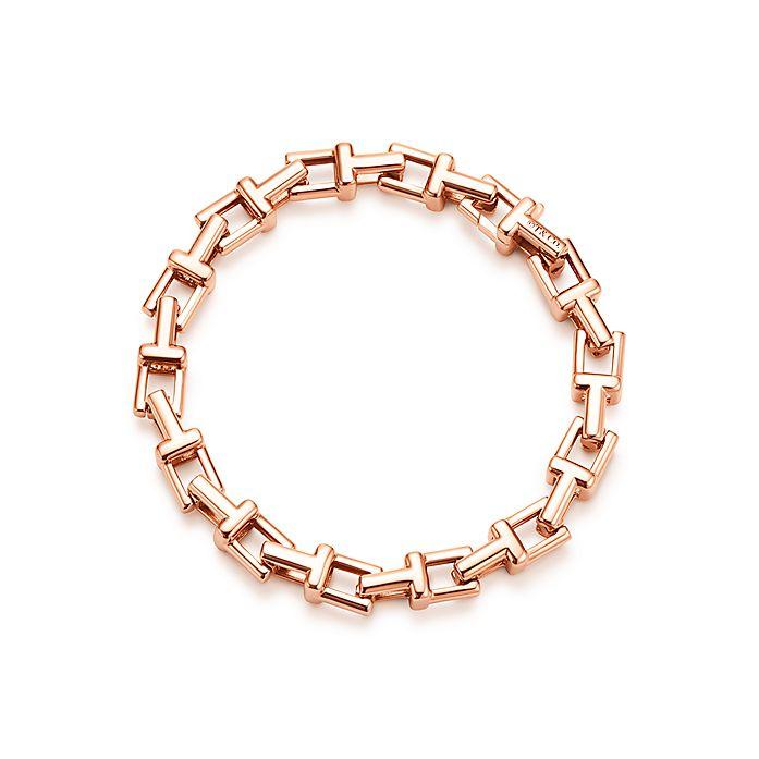 ae1861eba Tiffany T chain bracelet in 18k rose gold, medium. | Tiffany & Co.