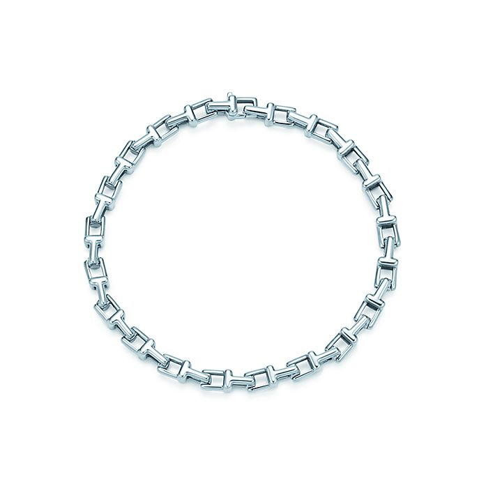 ac8cc0d894f59 Tiffany T narrow chain bracelet in sterling silver, medium ...