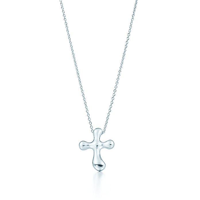 5debab4ea Elsa Peretti® cross pendant in sterling silver, 20 mm wide ...