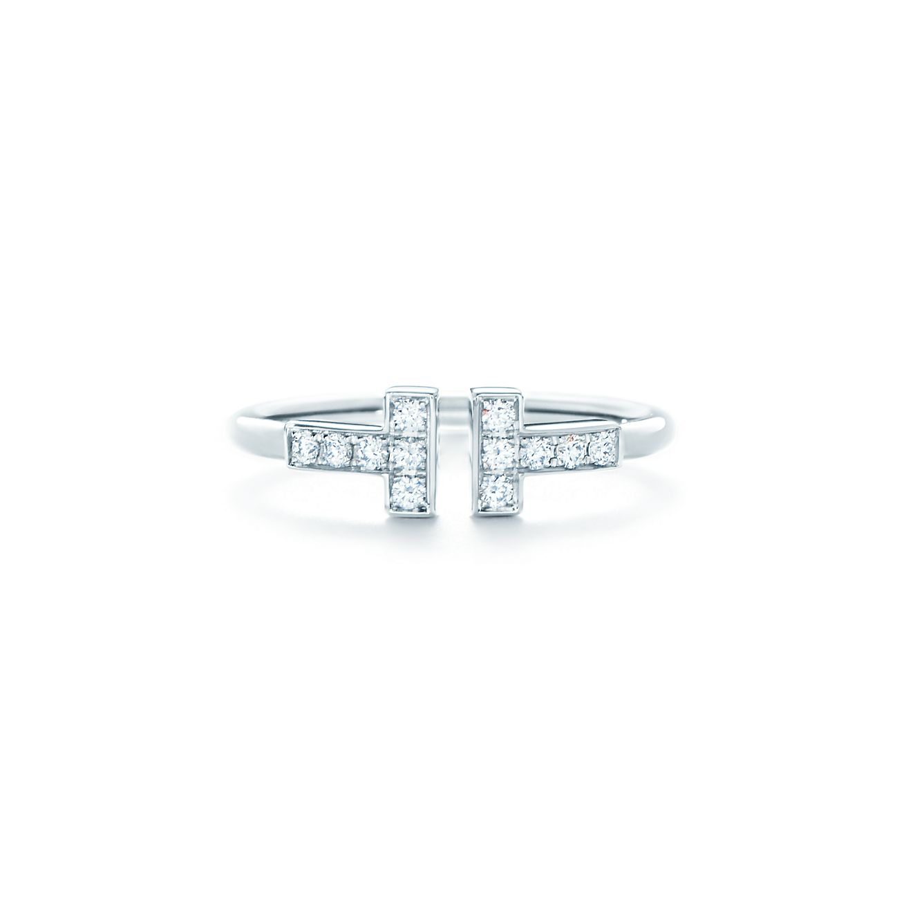 Tiffany T wire ring in 18k white gold - Size 9 Tiffany & Co.