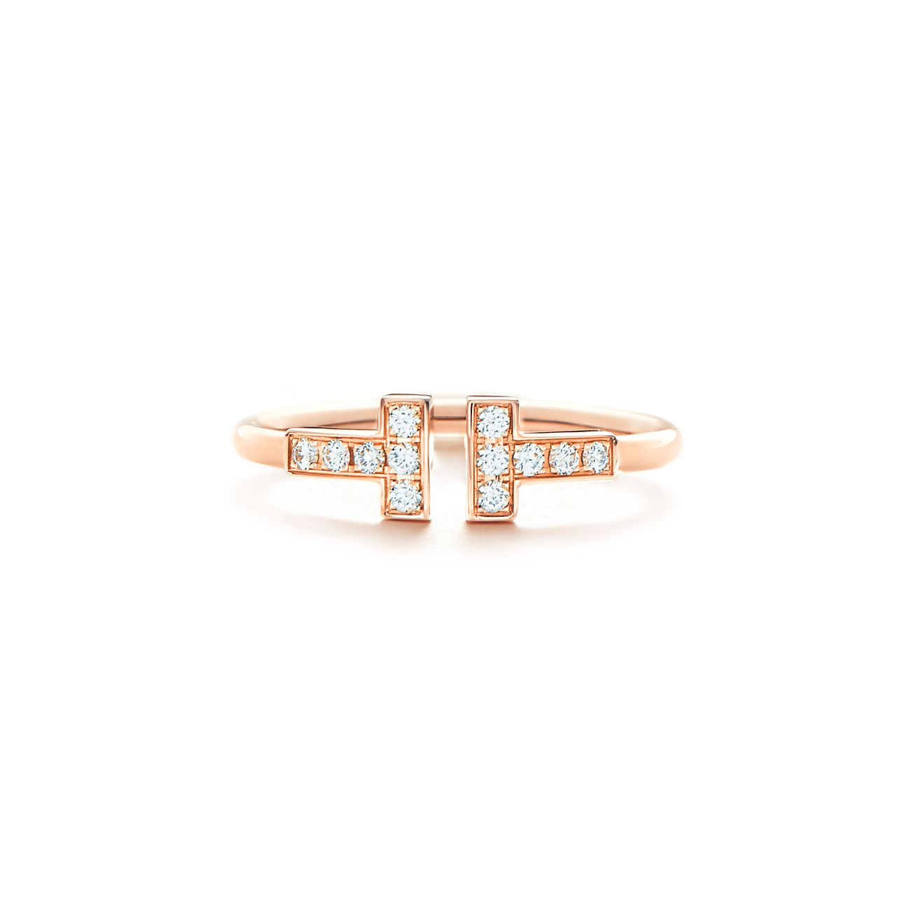18kt rose gold Tiffany T wire cuff - Metallic Tiffany & Co.