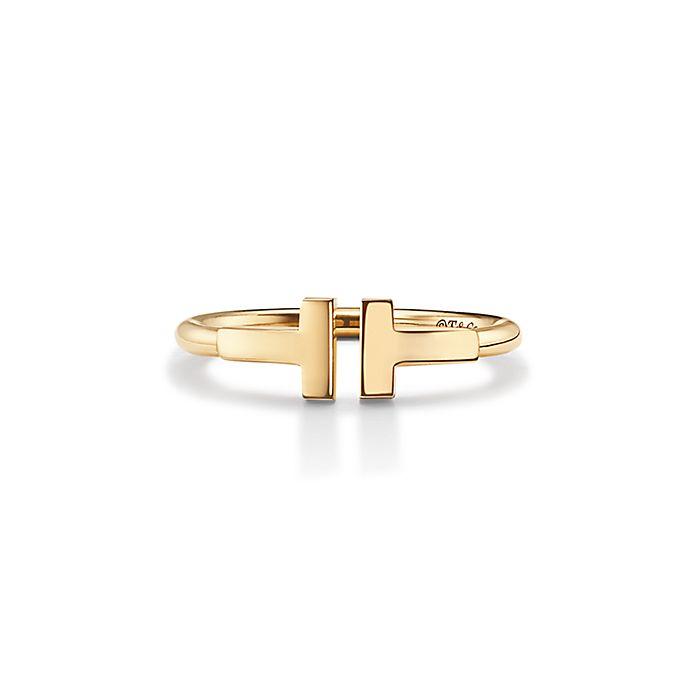 682ad2254 ティファニー T ワイヤー リング 18Kゴールド | Tiffany & Co.