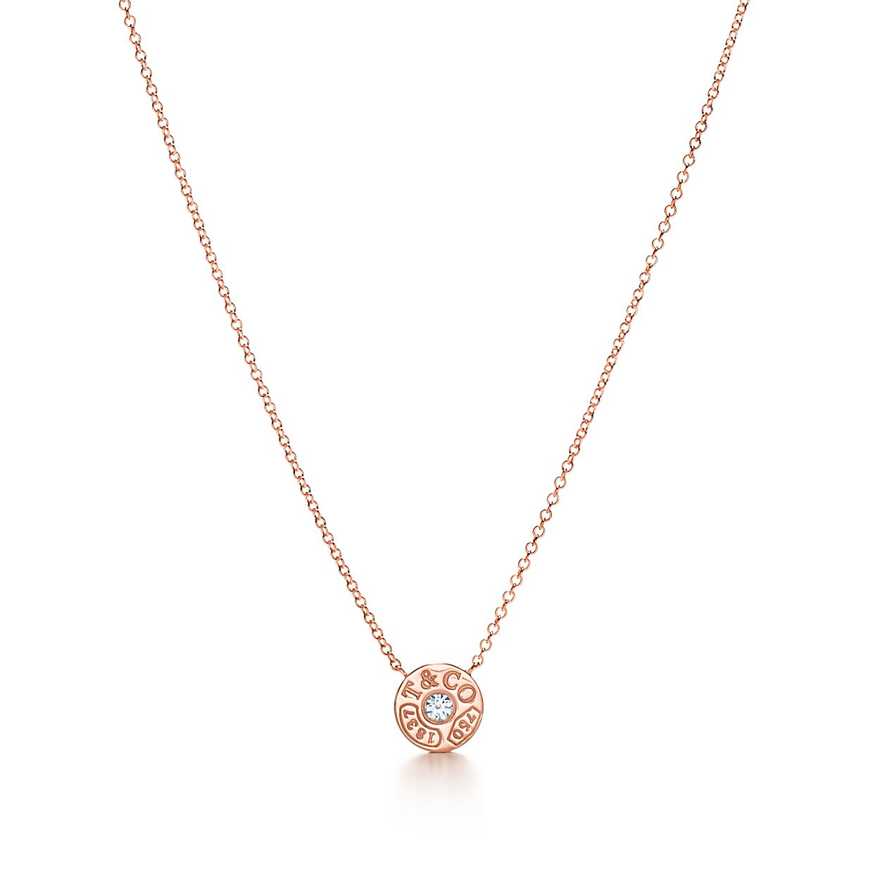 Tiffany 1837 circle pendant in 18k rose gold with diamonds tiffany 1837circle pendant aloadofball Choice Image