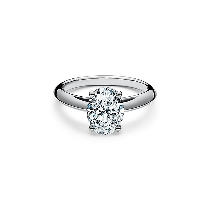 fe81e236f Oval-cut diamond engagement ring in platinum. | Tiffany & Co.