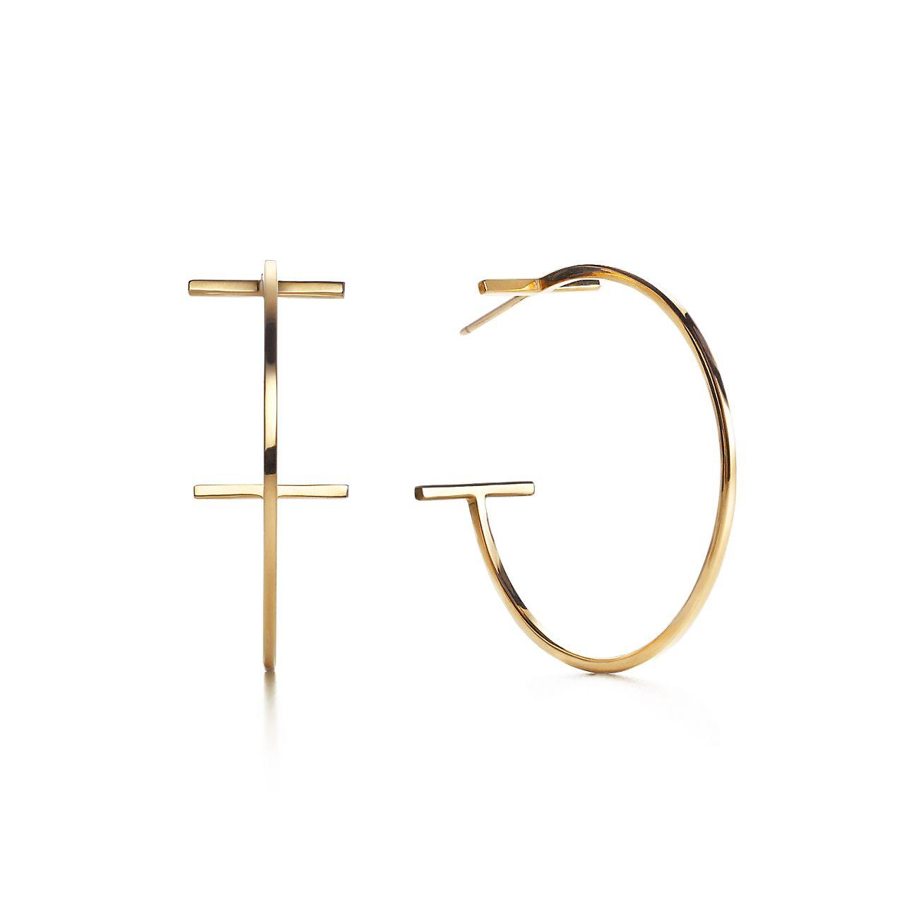 Tiffany T Wire Hoop Earrings