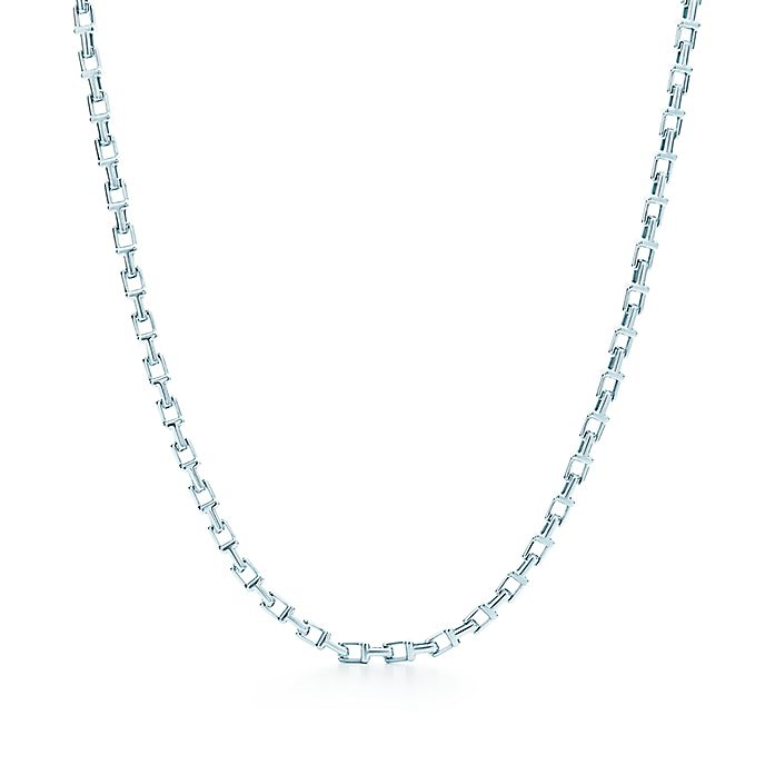 5063a6297 Tiffany T narrow chain necklace in sterling silver. | Tiffany & Co.