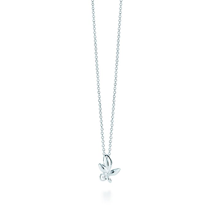 c11a844ee Paloma Picasso® Olive Leaf pendant in sterling silver, mini ...