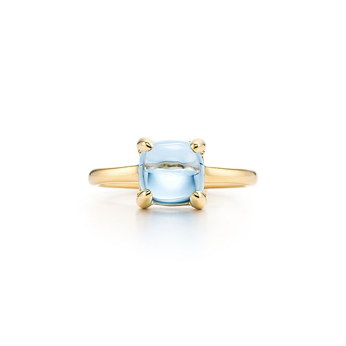 dec04390c Paloma's Sugar Stacks ring in 18k gold with a blue topaz. | Tiffany ...