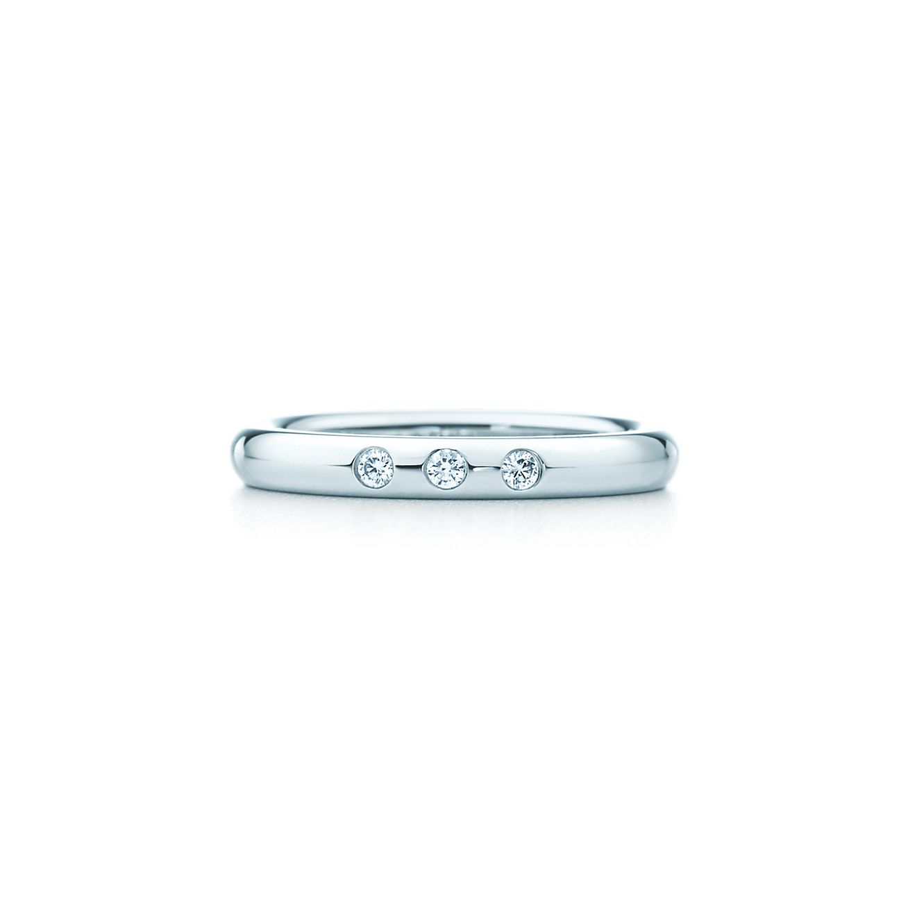 Elsa Peretti stacking band ring in platinum - Size 6 1/2 Tiffany & Co.