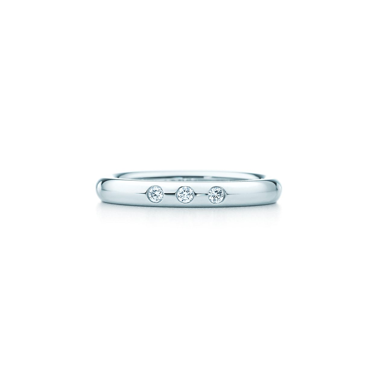 Elsa Peretti stacking band ring in platinum - Size 6 1/2 Tiffany & Co. d4t5P1Sf10
