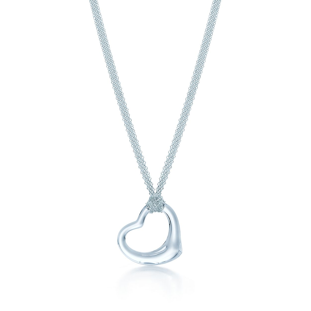 Elsa peretti open heart pendant of rock crystal and sterling silver elsa perettiopen heart pendant aloadofball Images