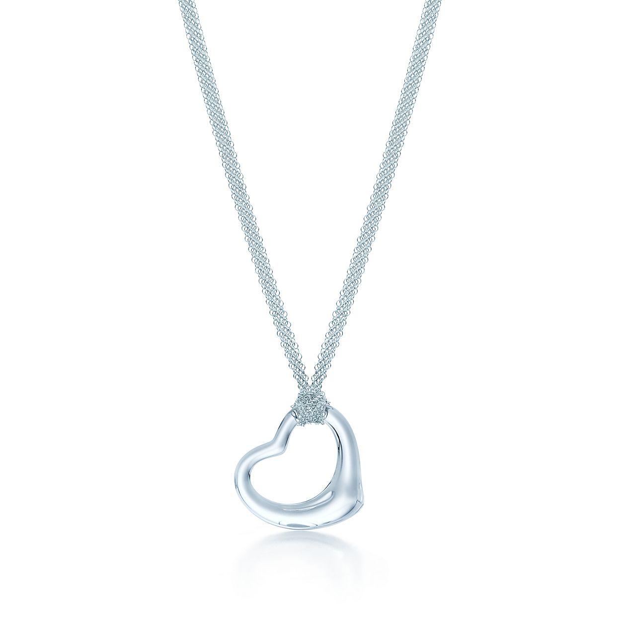 Elsa peretti open heart pendant of rock crystal and sterling silver elsa perettiopen heart pendant aloadofball Choice Image