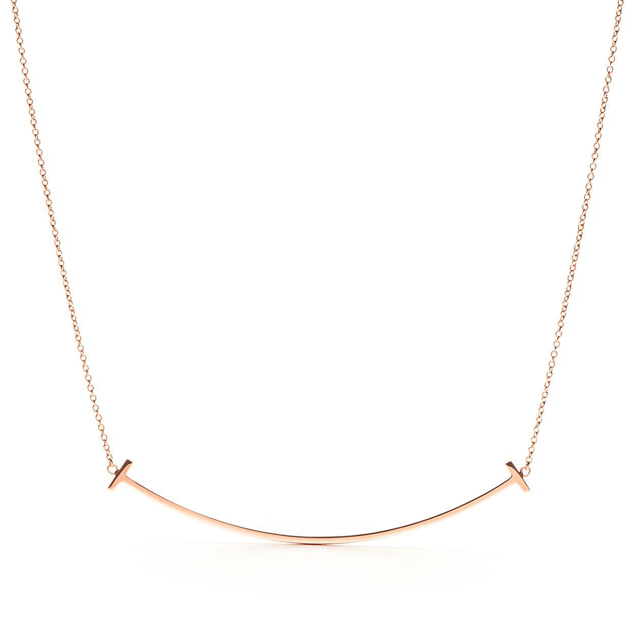Sourire Boucles D'oreilles Tiffany T En Or Rose 18 Carats Avec Diamants Tiffany & Co. nW16fa8o