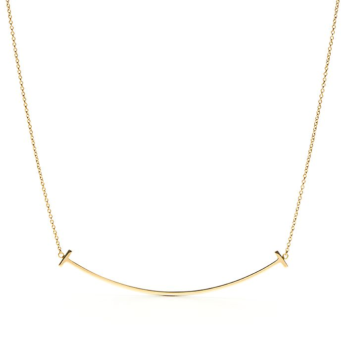 6e50490d0 18K Gold Smile Pendant Necklace | Tiffany & Co.