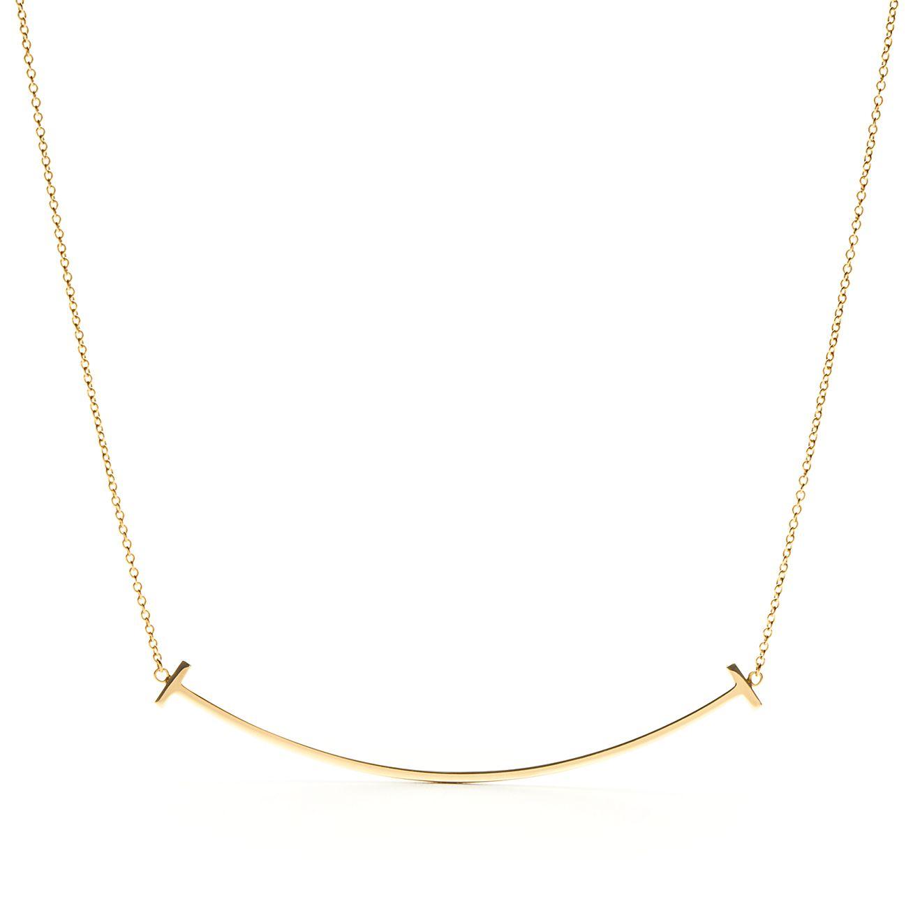 18k gold smile pendant necklace tiffany co tiffany tsmile pendant aloadofball Images
