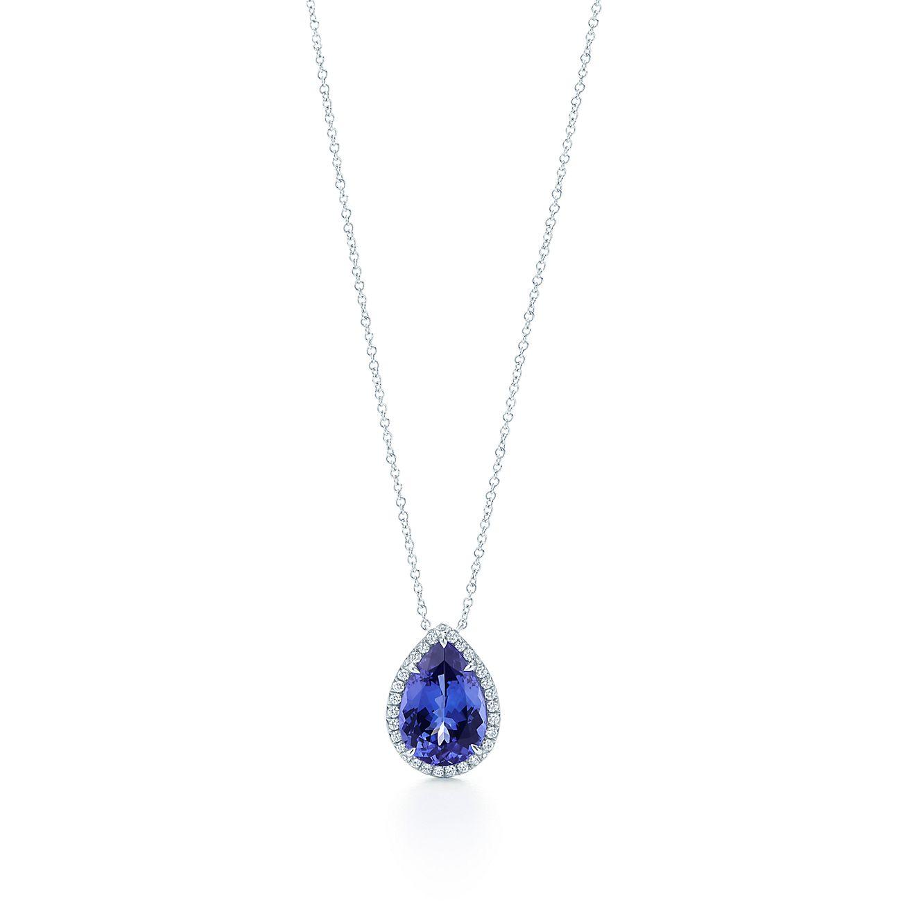 7948198bd Tiffany Soleste Pendant In Platinum With A Tanzanite And Diamonds