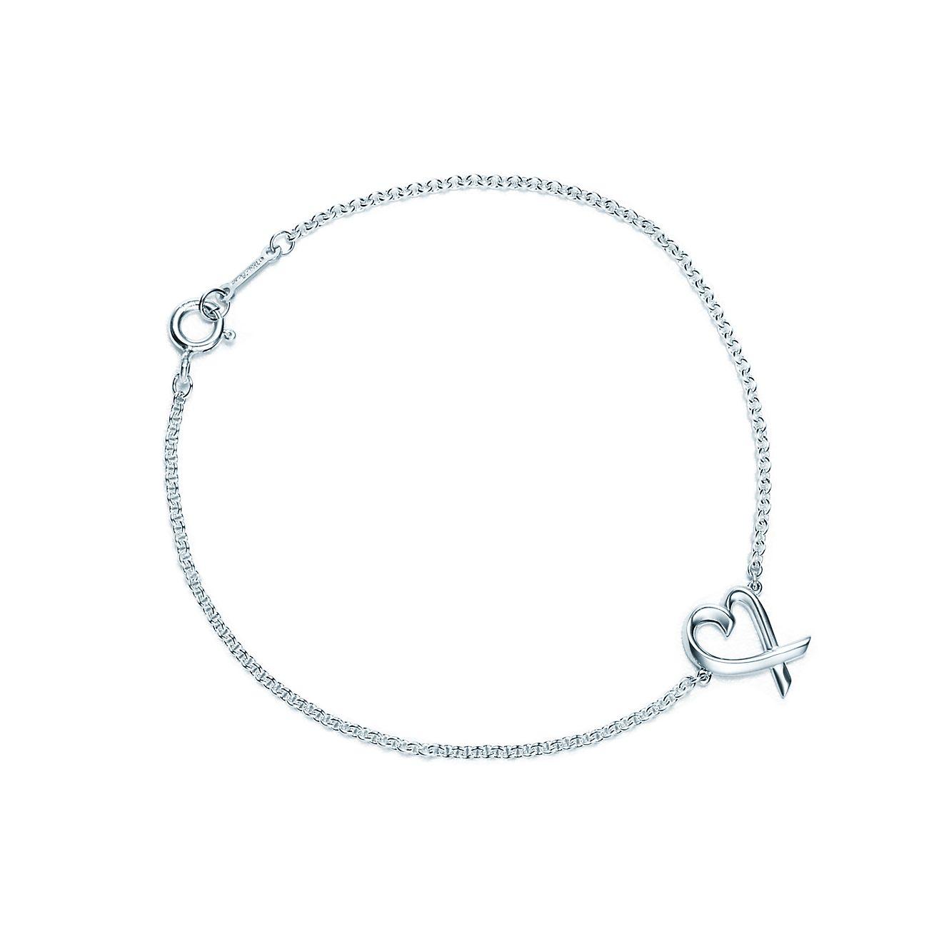 Tiffany Heart Bracelet >> Paloma Picasso Loving Heart Bracelet In Sterling Silver Medium