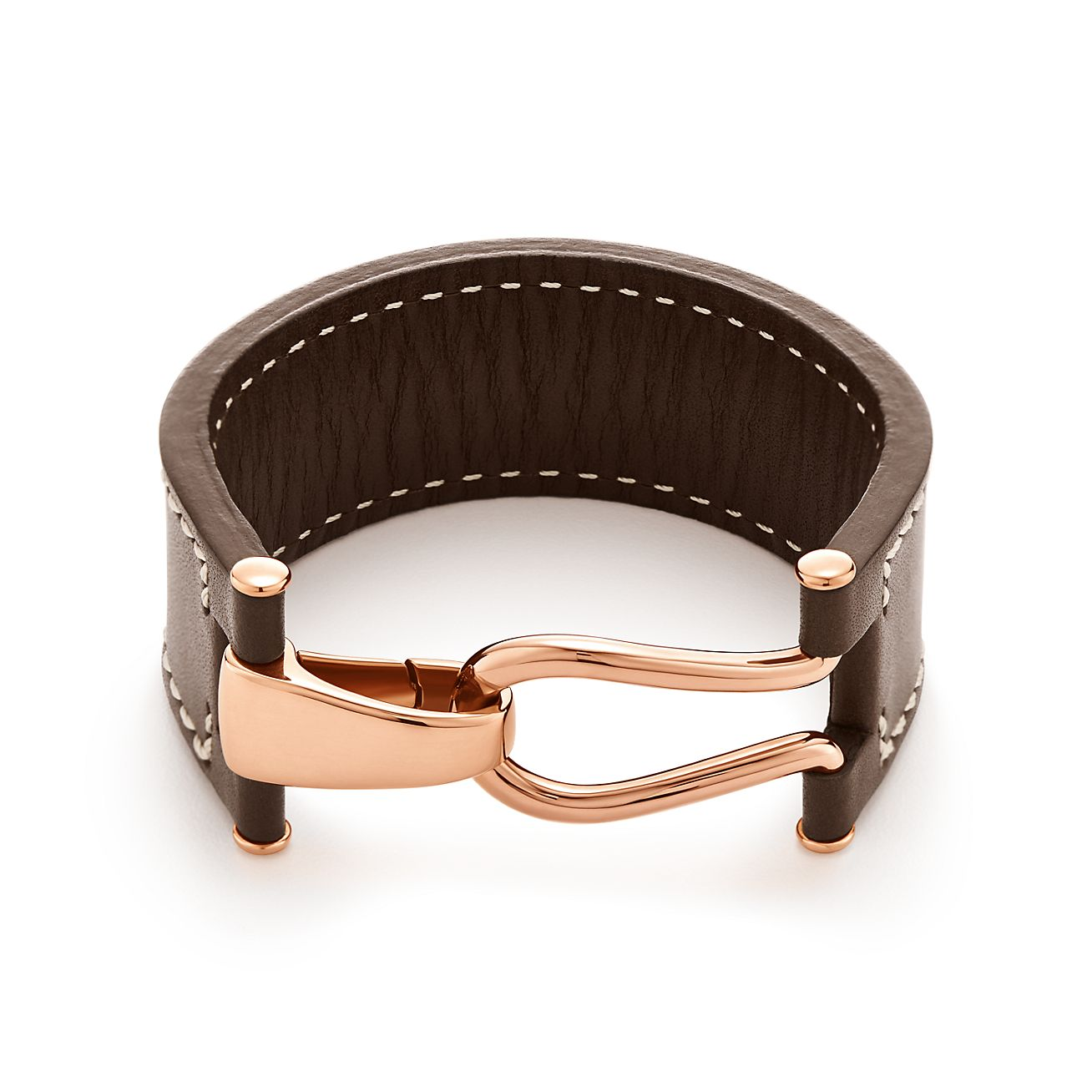 Paloma Picasso Knot wrap bracelet of 18k rose gold and leather, extra large Tiffany & Co.