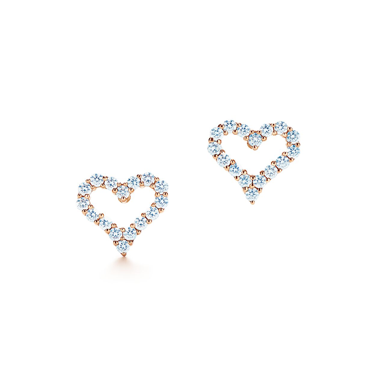 earrings super front heart