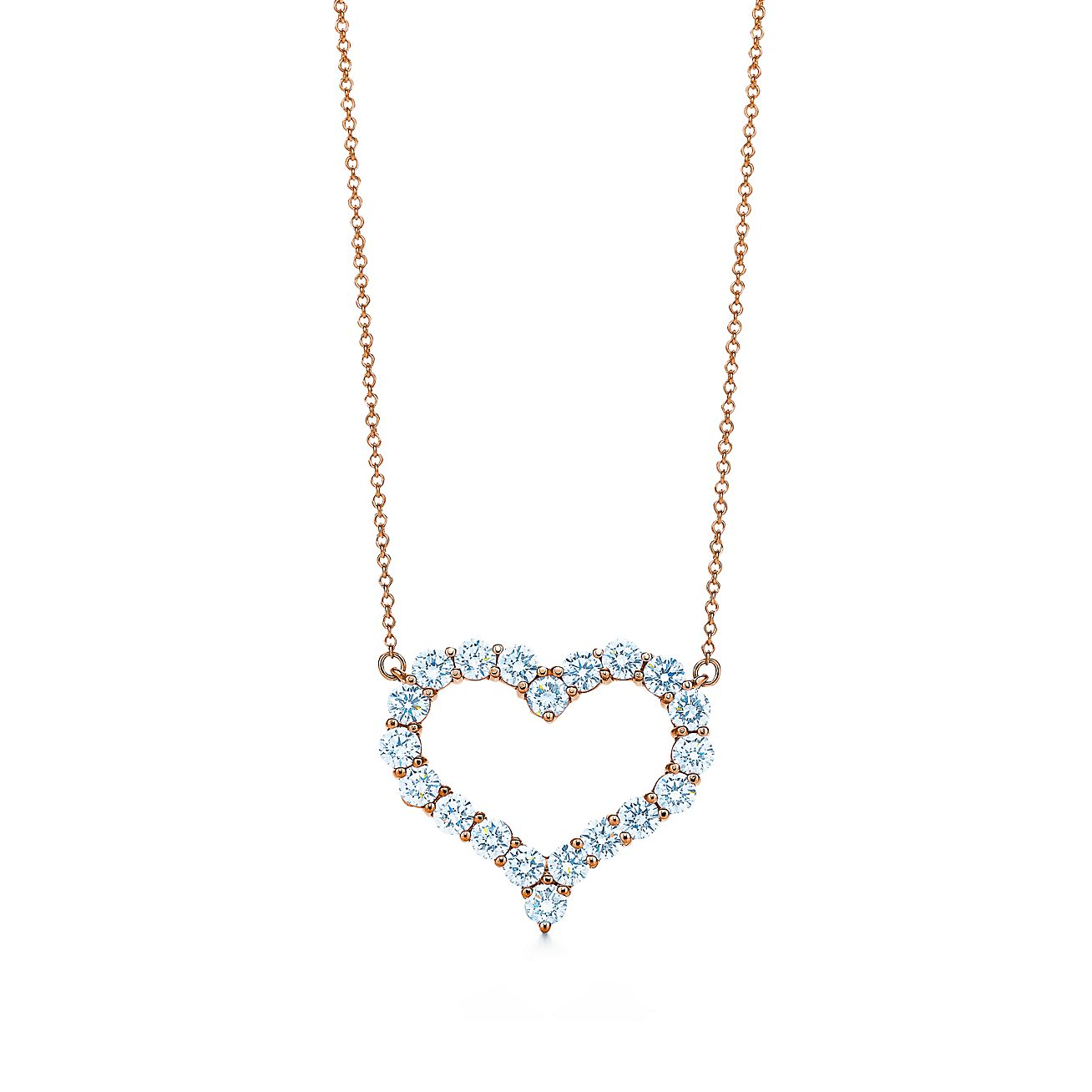 Tiffany Hearts pendant in 18k rose gold with diamonds Tiffany & Co.