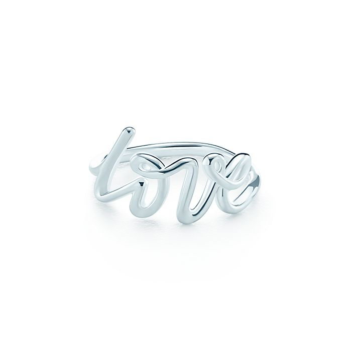 995897e9ac Paloma's Graffiti love ring in sterling silver. | Tiffany & Co.