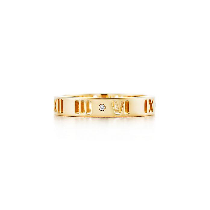 a4ebf9ba4 Atlas® pierced ring in 18k gold with diamonds.   Tiffany & Co.