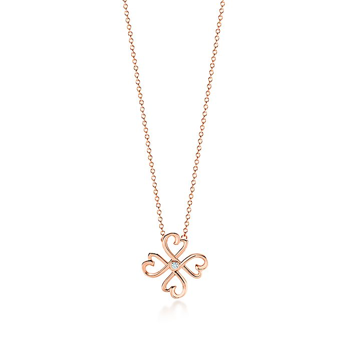 a482aa052 Paloma Picasso® Loving Heart pendant in 18k rose gold with a diamond ...
