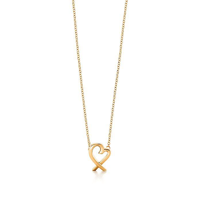 bfa4fc4e2ab Paloma Picasso® Loving Heart pendant in 18k gold, mini. | Tiffany & Co.