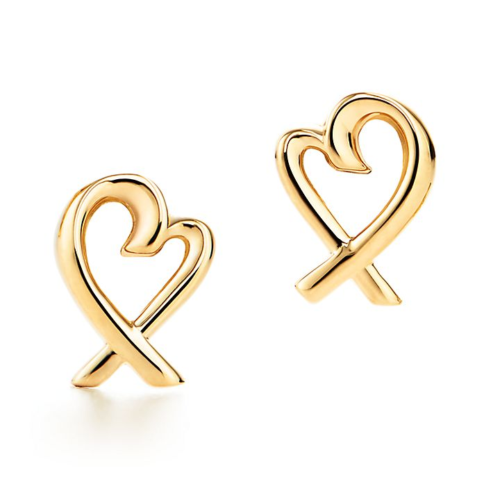 1e659e3b0 Paloma Picasso® Loving Heart earrings in 18k gold. | Tiffany & Co.