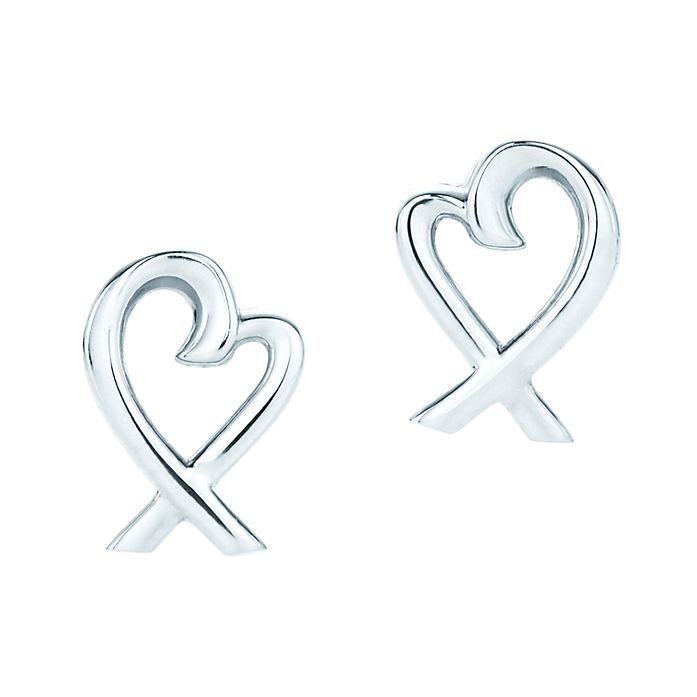 b9b8e9448 Paloma Picasso® Loving Heart earrings in sterling silver. | Tiffany ...