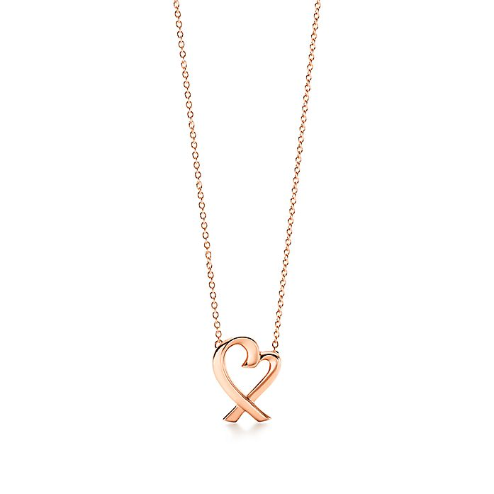 ccf27cea6 Paloma Picasso® Loving Heart pendant in 18k rose gold, small ...