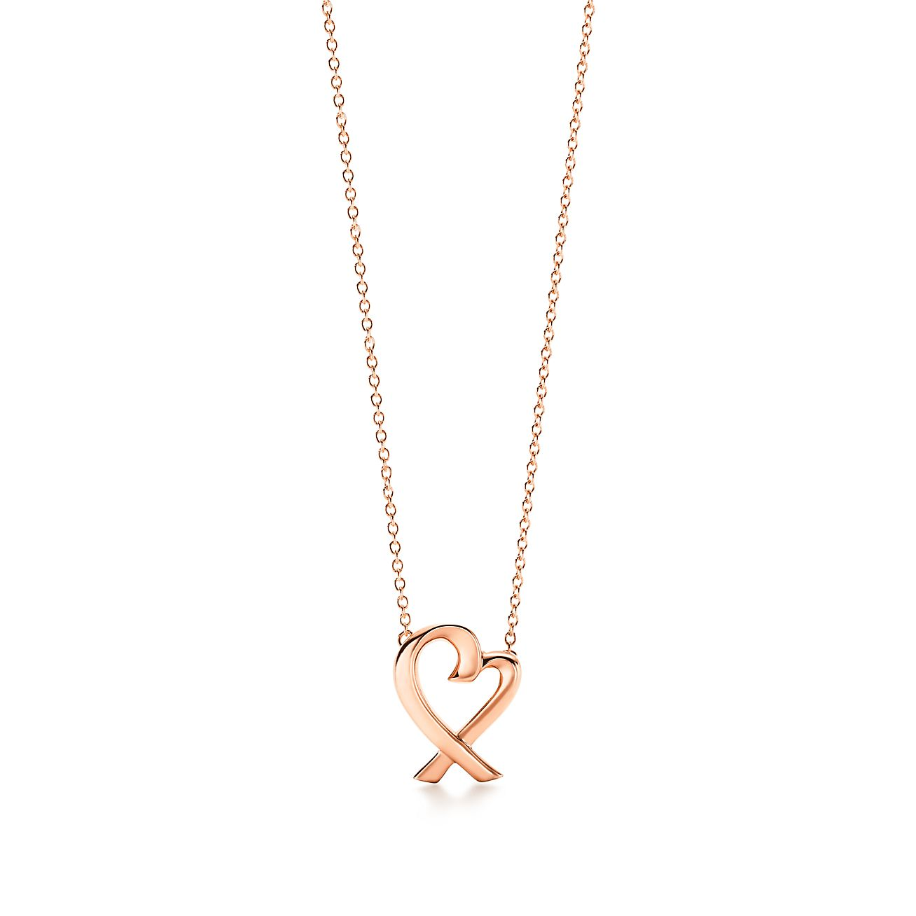 Palomas Venezia Goldoni heart pendant in 18k rose gold, small Tiffany & Co.