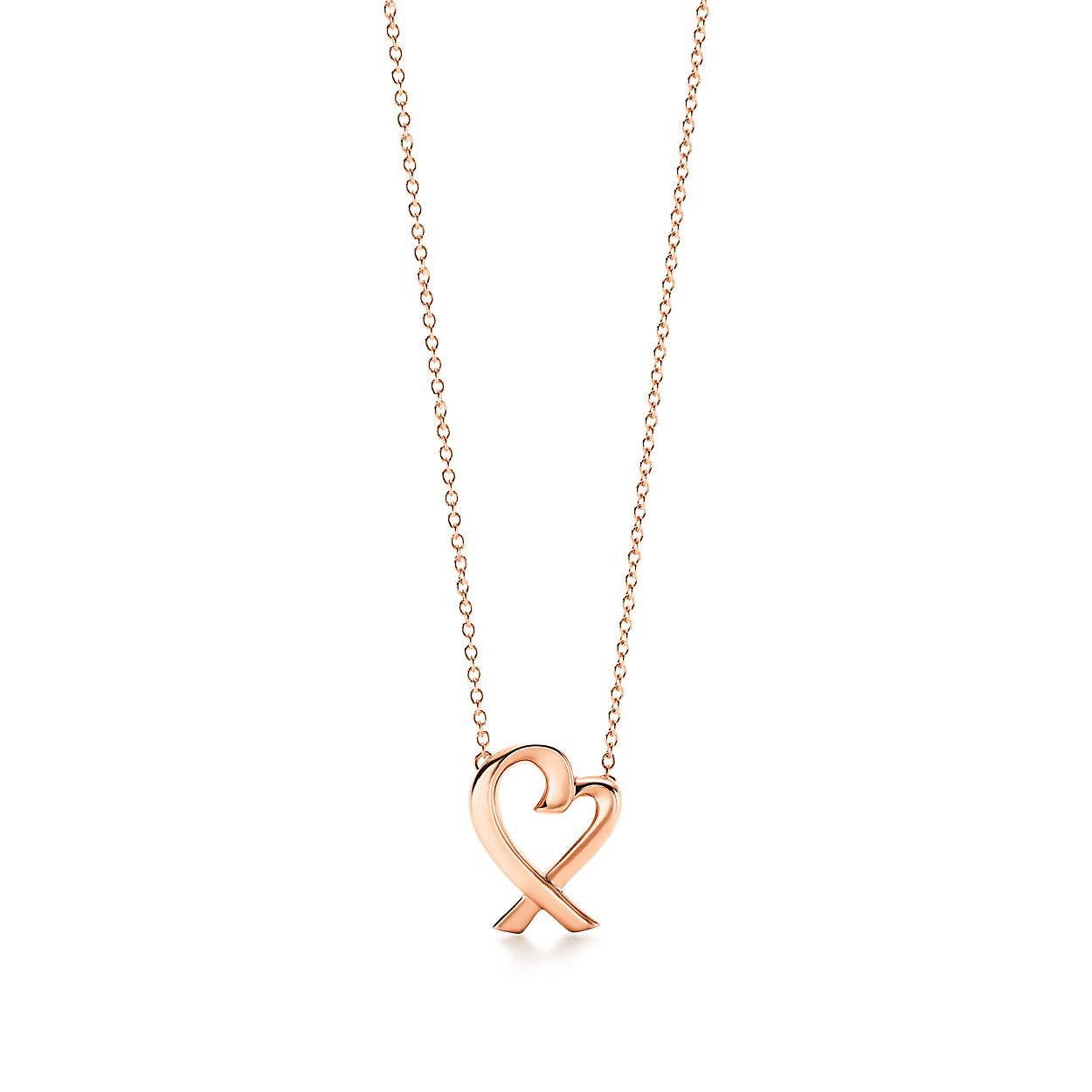 Paloma picasso loving heart pendant in 18k rose gold small paloma picassoloving heart pendant aloadofball Gallery