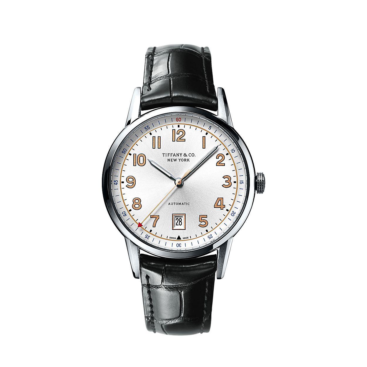 Reloj De Tres Manecillas Tiffany Ct60 De 40 Mm Para Hombre En Acero