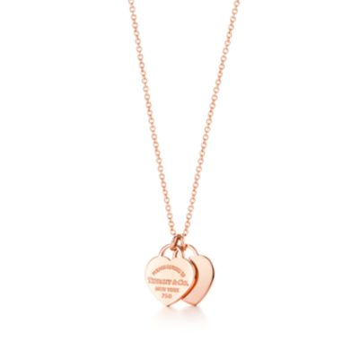 Return to Tiffany double heart pendant in 18k rose gold Tiffany