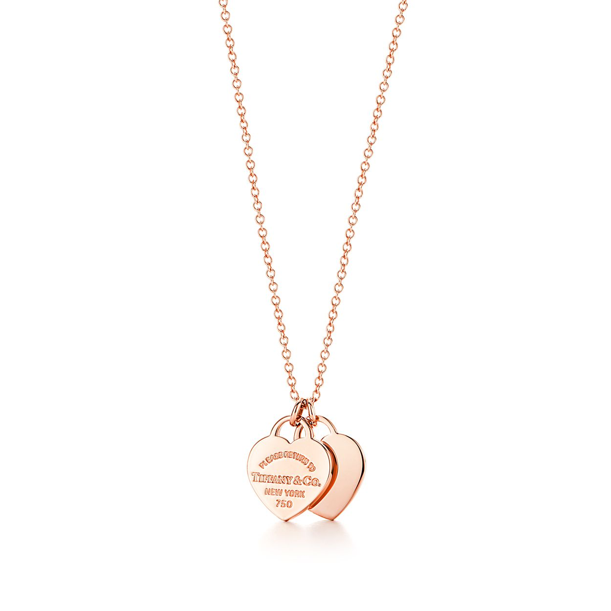 tiffany necklaces id ed pendant jewelry tag to hei double fit pendants heart rose fmt return constrain in wid gold mini