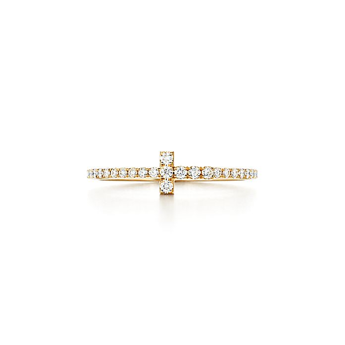 94219389f311 Anillo Wire de la colección Tiffany T en oro de 18 quilates con ...