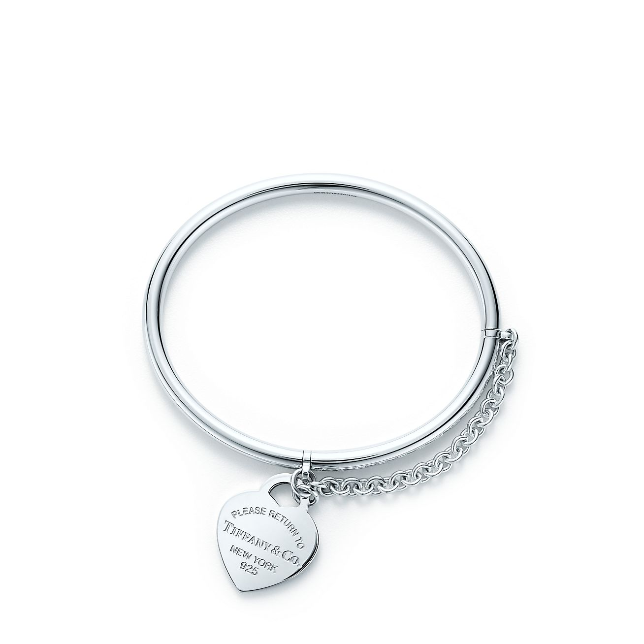 Return To Tiffany Heart Tag Bangle With Chain