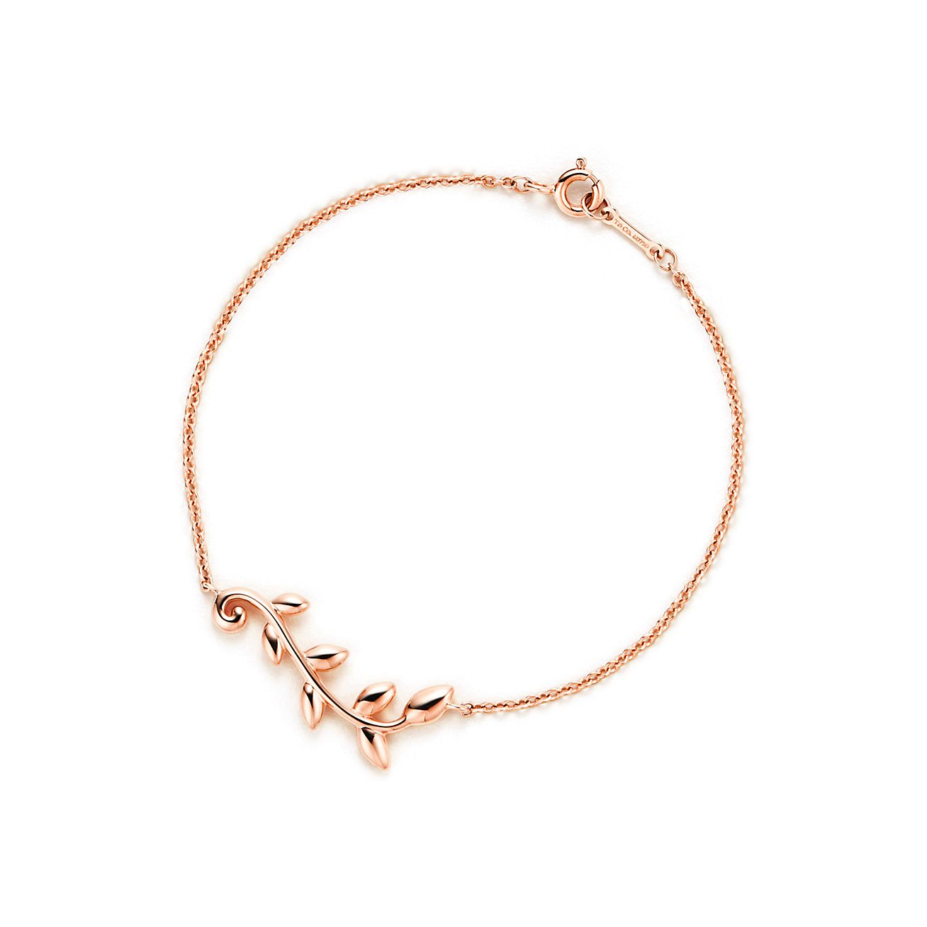 Paloma Picasso Olive Leaf vine pendant in 18k rose gold Tiffany & Co.