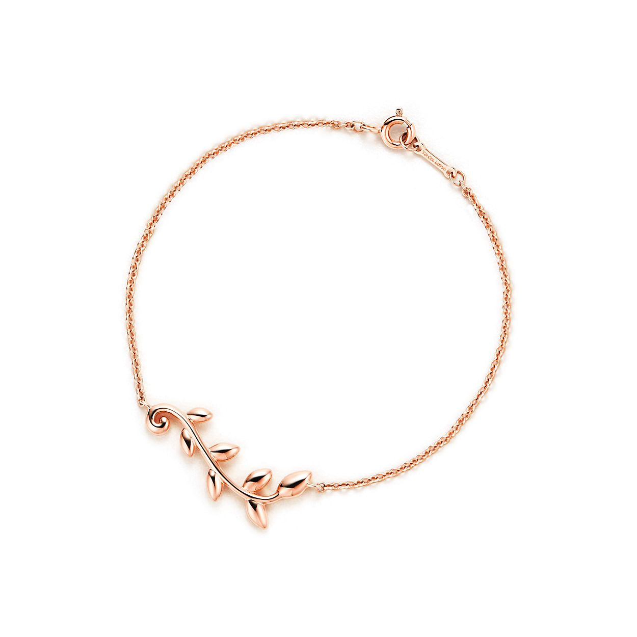 Paloma Picasso Olive Leaf vine pendant in 18k rose gold Tiffany & Co. 6ACYrFcS5