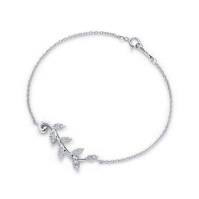852d6a1ee Paloma Picasso® Olive Leaf vine bracelet in 18k white gold with ...