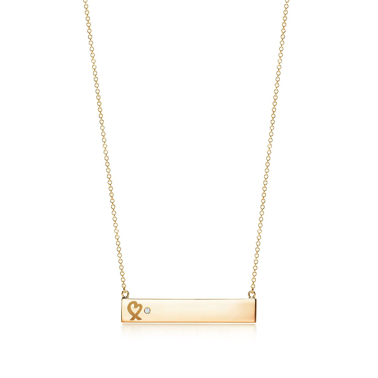 Paloma Bar Coeur Picasso Amour Pendentif En Or Rose 18 Carats Avec Un Diamant Tiffany & Co. UDGLPdzU5d